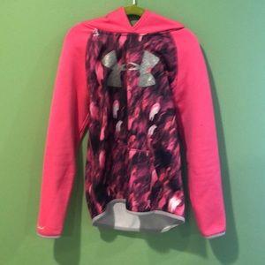 Pink under armor sweatshirt